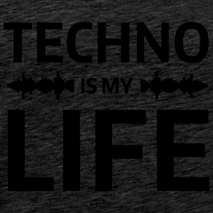 techno is my life house Club beat DJ Musik Sweat-shirts - T-shirt Premium Homme