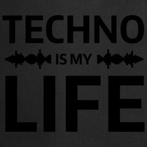 techno is my life house Club beat DJ Musik Sweaters - Keukenschort