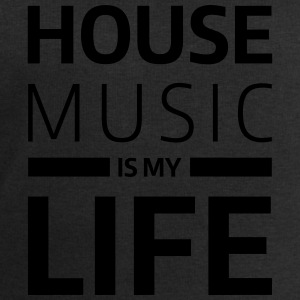 house music is my life techno Club DJ Musik T-skjorter - Sweatshirts for menn fra Stanley & Stella