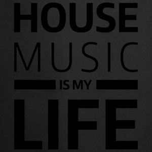house music is my life techno Club DJ Musik Sweaters - Keukenschort