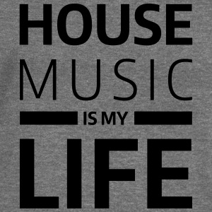 house music is my life techno Club DJ Musik T-Shirts - Women's Boat Neck Long Sleeve Top