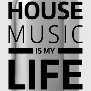 house music is my life techno Club DJ Musik T-Shirts - Water Bottle