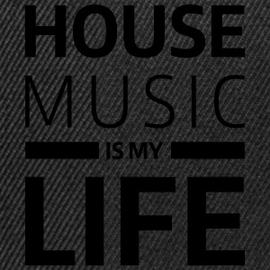 house music is my life techno Club DJ Musik T-skjorter - Snapback-caps