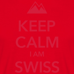KEEP CALIM I AM SWISS - Männer T-Shirt