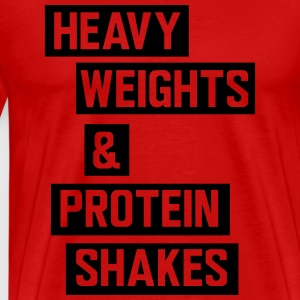 Heavy weights and protein shakes Sports wear - Men's Premium T-Shirt