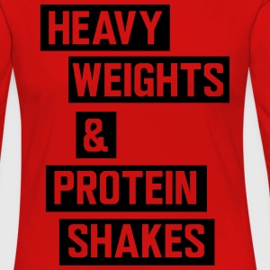 Heavy weights and protein shakes Sports wear - Women's Premium Longsleeve Shirt