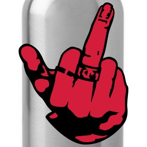 Middle finger woman rings T-Shirts - Water Bottle