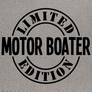 motor boater limited edition stamp - Snapback Cap