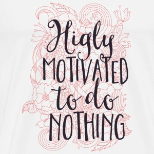 Highly motivated to do nothing- Motivation- Faul  Långärmade T-shirts - Premium-T-shirt herr