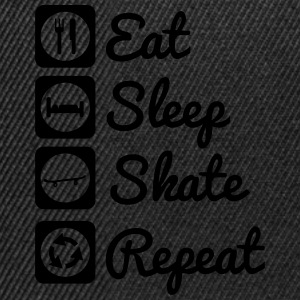 Eat,sleep,skate,repeat : Skate Shirt - Gorra Snapback
