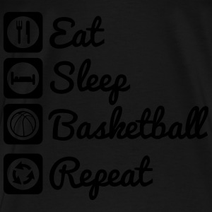 Eat,sleep,basketball,repeat Basket Baloncesto Shir - Camiseta premium hombre