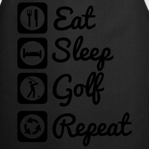 Eat sleep golf repeat  T-shirts - Forklæde