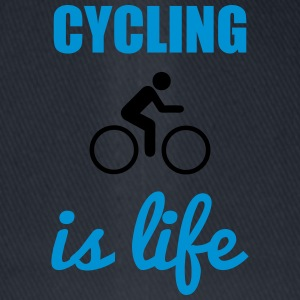 Cycling is life - Fahrrad Shirt - Flexfit baseballcap