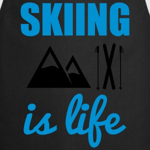 Skiing is life - ski shirt - Keukenschort