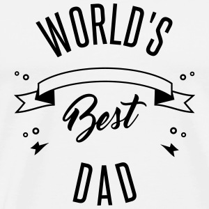 WORLD'S BEST DAD Buttons - Men's Premium T-Shirt