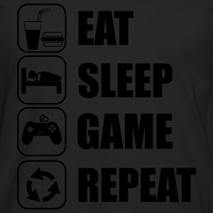 Eat,sleep,game,repeat Gamer Gaming Geek Nerd - T-shirt manches longues Premium Homme