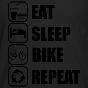Eat,sleep,bike,repeat Bicicleta T-shirt - Camiseta de manga larga premium hombre