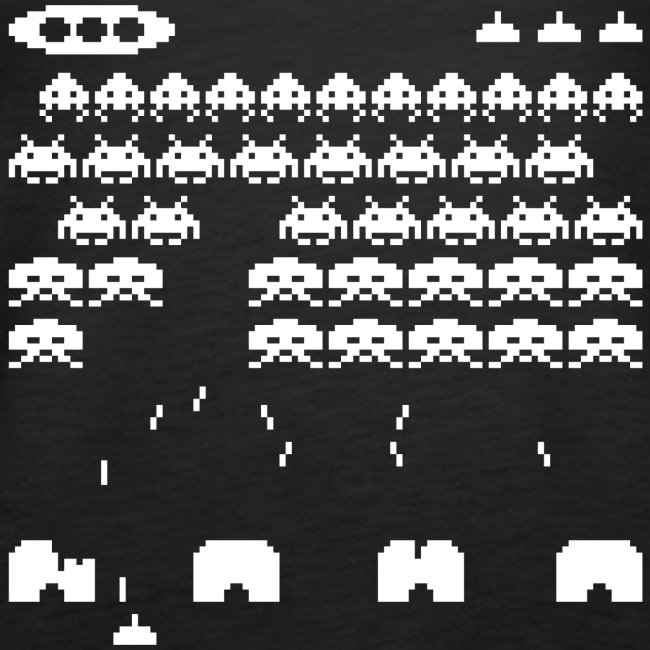 70s and 80s invaders video game - women's tee