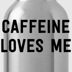 Caffeine Loves Me T-Shirts - Water Bottle