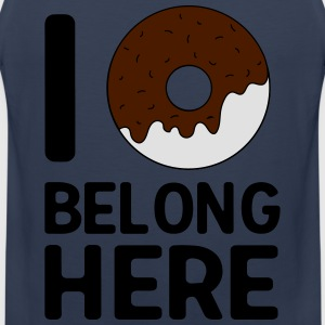 I donut belong here T-Shirts - Men's Premium Tank Top