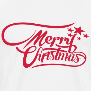 merrychristmas-ownfont Sweaters - Mannen Premium T-shirt