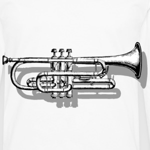 Trumpet with Shadow T-Shirts - Men's Premium Longsleeve Shirt