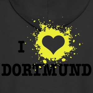 I Love Dortmund T-Shirts - Men's Premium Hooded Jacket