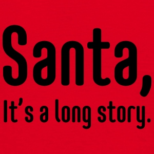 Santa, it's a long story Mokken & toebehoor - Mannen T-shirt