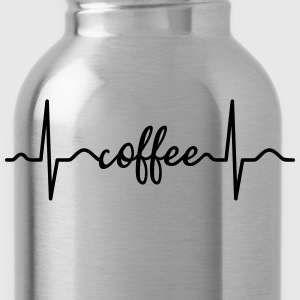 Heartbeat Coffee T-Shirts - Trinkflasche
