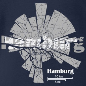 Hamburg Map Tee shirts - Body bébé bio manches courtes