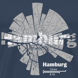 Hamburg Map Sports wear - Men's Premium T-Shirt