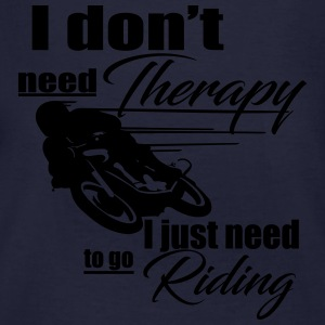 Riding Therapy Hoodie - Männer Bio-T-Shirt