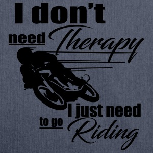 Riding Therapy Hoodie - Schultertasche aus Recycling-Material