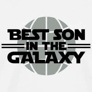 Best Son In The Galaxy Buttons - Men's Premium T-Shirt
