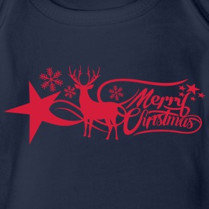 merry-christmas Long Sleeve Shirts - Organic Short-sleeved Baby Bodysuit