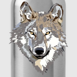 wolf face T-Shirts - Water Bottle