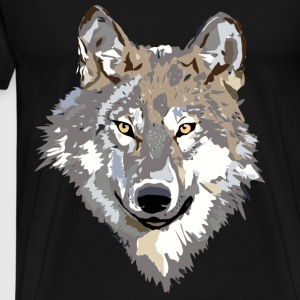 wolf face Hoodies & Sweatshirts - Men's Premium T-Shirt