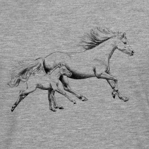 Mare with foal T-Shirts - Men's Premium Longsleeve Shirt
