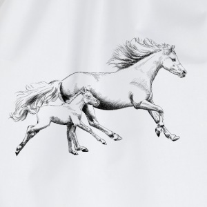 Mare with foal T-Shirts - Drawstring Bag