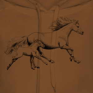 Mare with foal T-Shirts - Women's Premium Hoodie