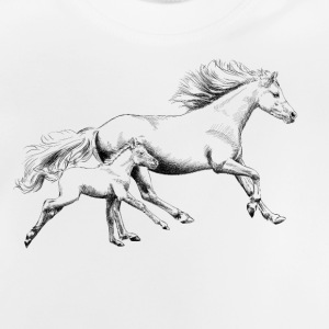 Mare with foal T-shirts - Baby T-shirt