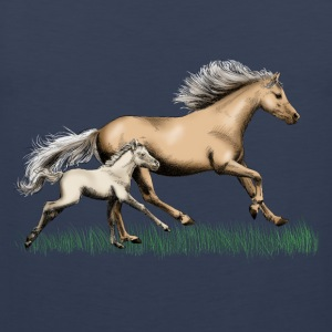Mare with foal T-Shirts - Men's Premium Tank Top