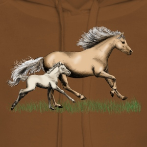 Mare with foal Shirts - Women's Premium Hoodie