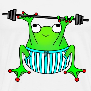 Weightlifting frog t-shirt for men - Men's Premium T-Shirt