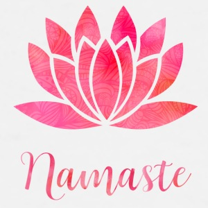 Namaste Watercolor Lotus - Männer Premium T-Shirt