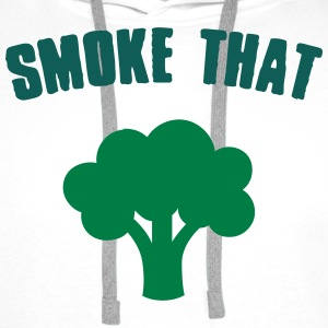 Smoke that Broccoli Tee shirts - Sweat-shirt à capuche Premium pour hommes