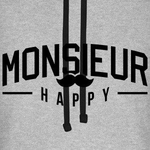 Monsieur-Happy Tee shirts - Sweat-shirt baseball unisexe
