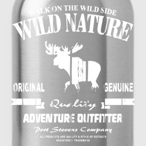 Wild Nature - Moose - Elch T-Shirts - Trinkflasche