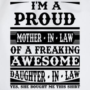 Proud Mother In Law Of A Freaking Awesome Daughter T-Shirts - Drawstring Bag