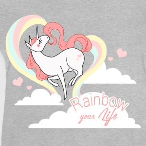 Heather grey rainbow your life Long Sleeve Shirts - Baby T-Shirt